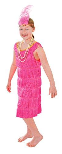 FLAPPER DRESS. PINK (SMALL AGE 3-5), GIRLS COSTUME, FANCY DRESS, 1920S (Kinder Kostüme Flapper Pink)