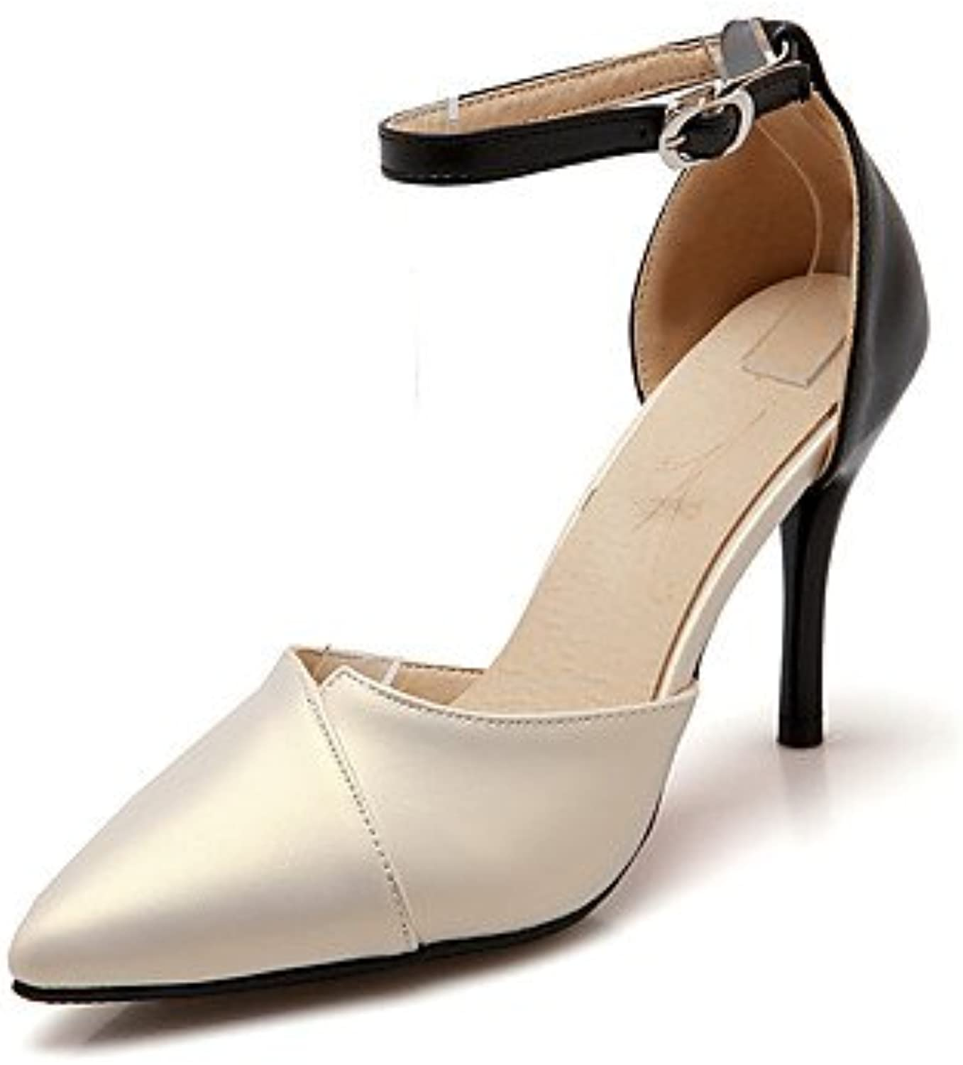 Zormey Sandals Summer Club Shoes D'Orsay &Amp; Two-Piece Leatherette Wedding Party &Amp; Evening Dress Stiletto...