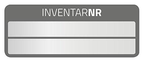 Avery Zweckform 6921 Inventar-Etiketten (50 Stück, Aluminium, 50 x 20 mm) 10 Bogen, schwarz (Manipulationssicher Wetterfest)