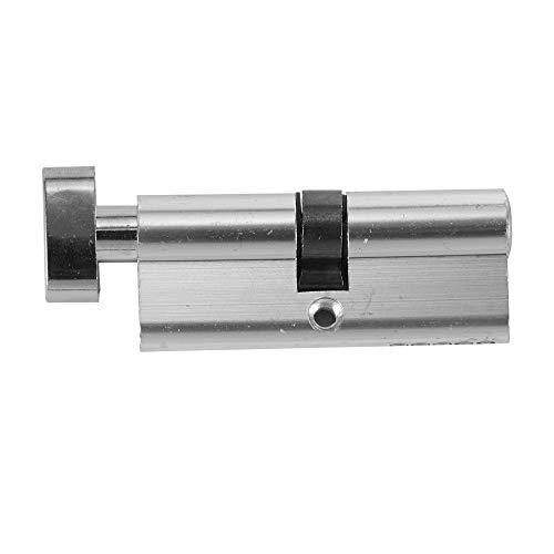Verdelife Innenzylinder Hardware Aluminium Home Security-Tor-Tür-Verschluss-Code mit 3 Schlüssel Schließzylinder -Silver - Home-security-hardware