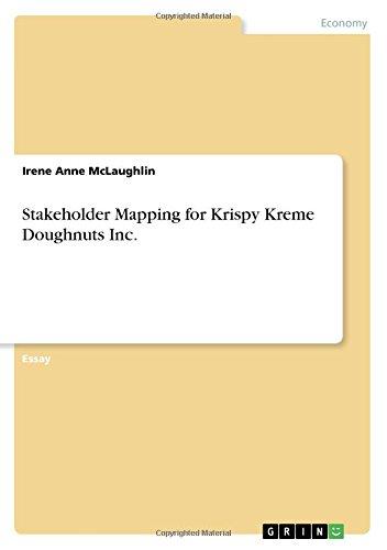 Mapping Stakeholder (Stakeholder Mapping for Krispy Kreme Doughnuts Inc)