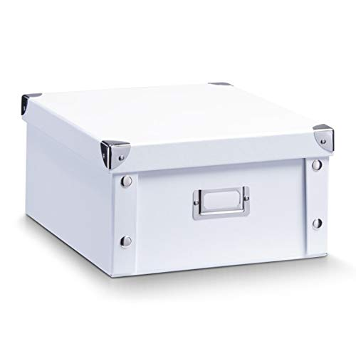 Organiser box made of sturdy cardboard;With tagging label;Box corners are reinforced;Foldable