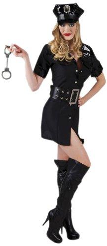 Uniform Officer Police (Boland 83549 - Erwachsenenkostüm Sexy Police Officer, Kleid, Mütze und Gürtel Gröߟe 40 /)