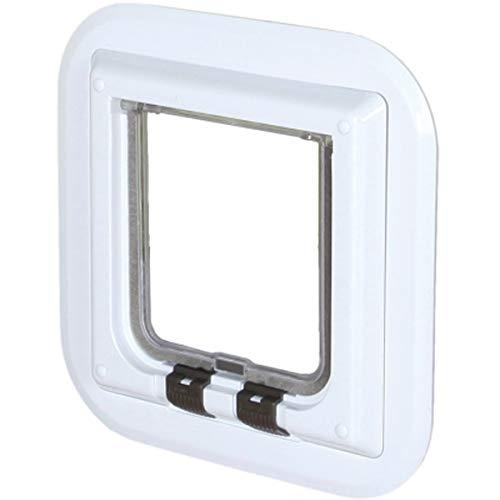 Trixie 4-Wege Freilauftür speziell für Glas Freilauftür Katzentür Katzenschlupf