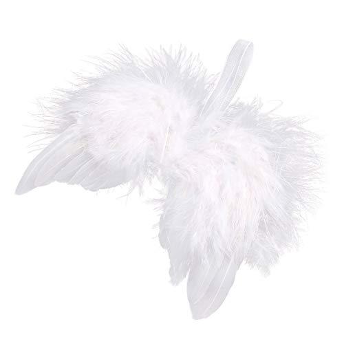 10 St. Engelsflügel Federn Flügel Engel Anhänger Weihnachten Christbaumschmuck Baby Taufe Deko DIY Basteln Kinder 16cm Weiß