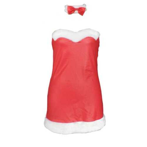 Dream2Reality Christmas Cuture Kostuem Outfit - Red Bunny -