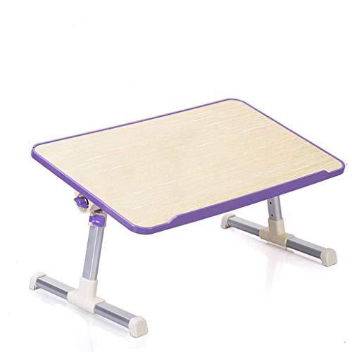 YS-FeiTeng Klapptisch - fauler Schreibtisch kleine verstellbare Höhe und niedrige Winkelhöhe Heben Multifunktionsbett Klappschlafsaal Computer Kippen lila lila (mit Heben) (Size : 600 * 300mm) - Klapptisch Verstellbar Kleiner