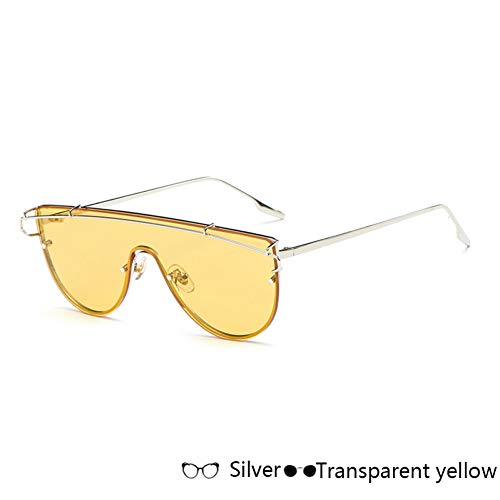 Kjwsbb Sonnenbrille Frauen Goggle Brille Männer Metallrahmen Sonnenbrille Objektiv Fashion Solid Color Vintage