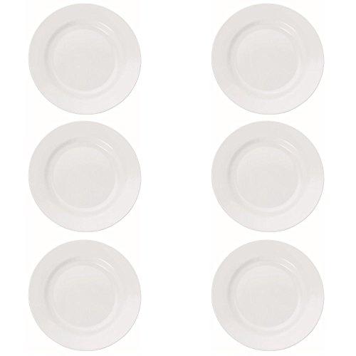 Viva-Haushaltswaren Camping Geschirr aus hochwertigem Melamin Kunststoff 6er Teller Set a Ø 20 cm / rund