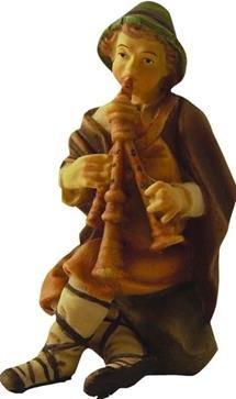 Krippenfigur Hirte mit Dudelsack Höhe 7,8cm , geeigenet für 11cm Figuren