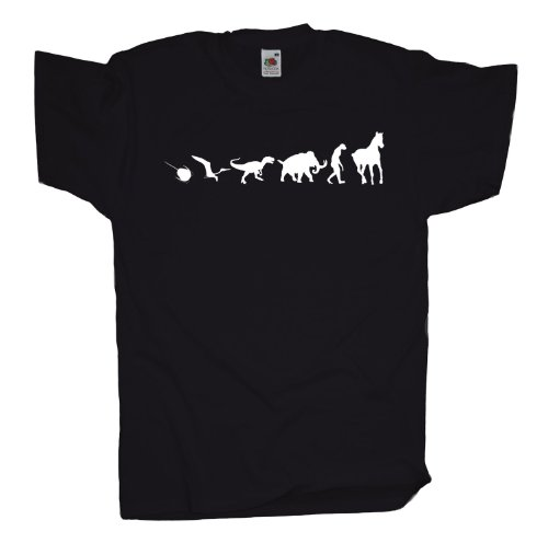 Ma2ca - 500 Mio Years Pferde T-Shirt Black