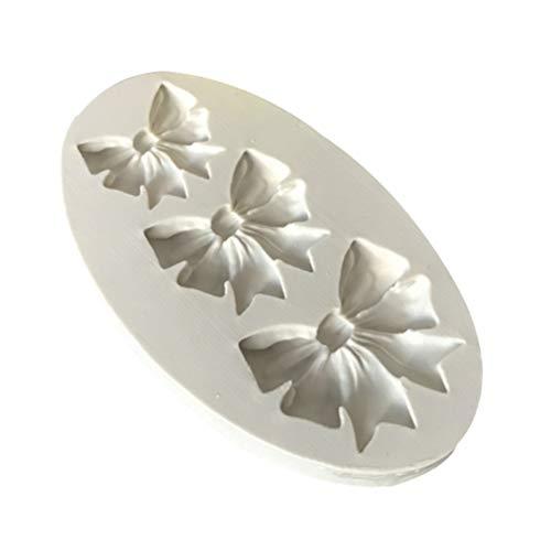 ZZbaixinglongan Silikon-3D-Schleife, Schleife, Süßigkeiten, Kuchen, Schokolade, Zuckerguss, Werkzeug für Heimdekoration - grau