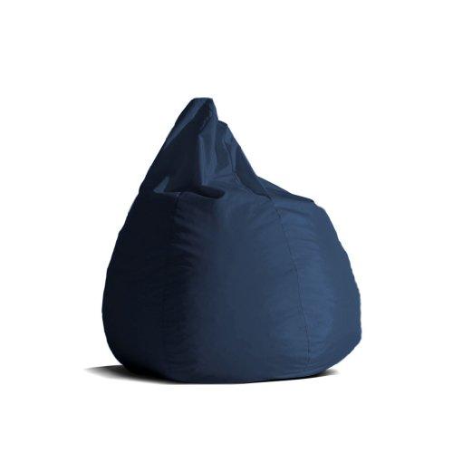 Pouf-poltrona-sacco-media-BAG-L-Jive-tessuto-tecnico-antistrappo-blu-scuro-imbottito-Avalon