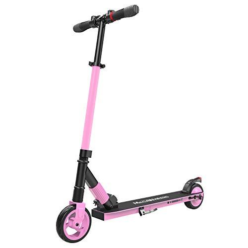 M MEGAWHEELS Monopattino Elettrico Pieghevole Scooter,10-12Km di Autonomia,velocità Fino a 23km/h, per Adulto,Bambini (Rosa)