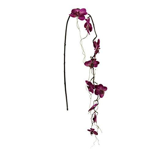 Kunstblume, PHALENOPSISZWEIG 122 cm. Orchideen -Zweig – HÄNGER in LILA-80