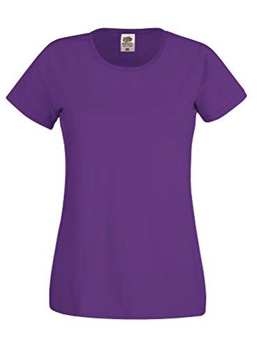 Fruit of the Loom - T-shirt - Femme Violet - Violet
