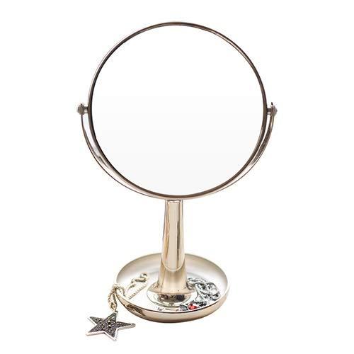 NL Maquillaje Vanidad Tocador Espejo, Espejo De Maquillaje con 3X, Espejo De Baño con Cristal-como...