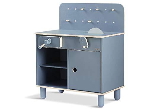 FLEXA Kinder Werkbank Dark Blue Workbench 82-70150-49