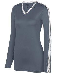 Augusta Sportswear Women'S Vroom Jersey L Graphite/White