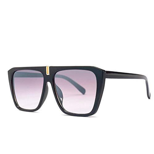 HYUHYU Mode Vintage Flache Top Sonnenbrille Frauen Marke Italien Platz Sonnenbrille Weibliche Männer Übergroßen Shades Uv400