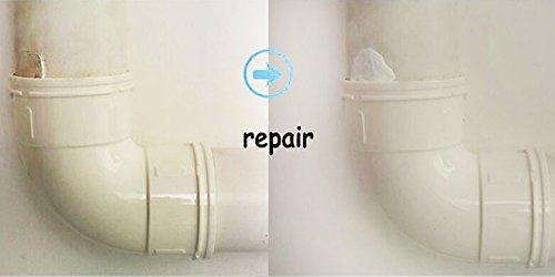 WaterLuu Formbarer Kleber 6 Stück für die Reparatur von Keramik, Glas, die meisten Metalle, die meisten Kunststoffe, Holz & einige Stoffe, Schwarz und Weiß