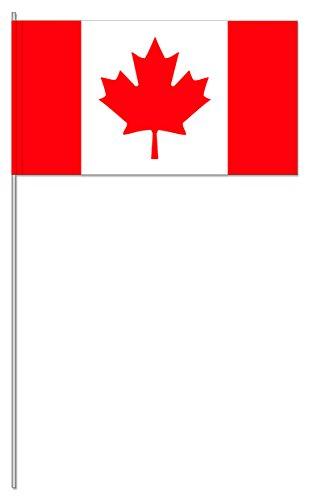 10 Fähnchen * KANADA * als Deko für Mottoparty oder Länder-Party // Flaggen Fahnen Papierfahnen rot weiss canada (Kanada Kanada)