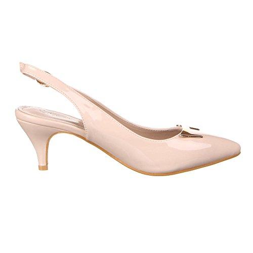 Damen Schuhe, 50710, PUMPS Beige