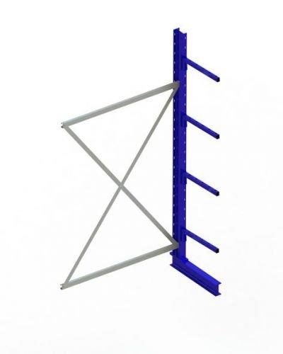 KR AR IPE120 einseitig 2500 x 1300 x 500 RAL 5010 mit 4 Kragarmen je Ständer System leicht Achsmass 1330 mm