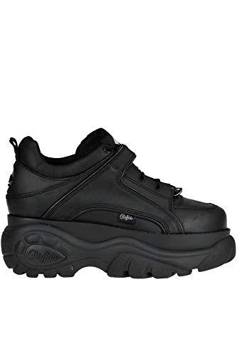 Buffalo London Damen Mcglcak000006043i Schwarz Leder Sneakers