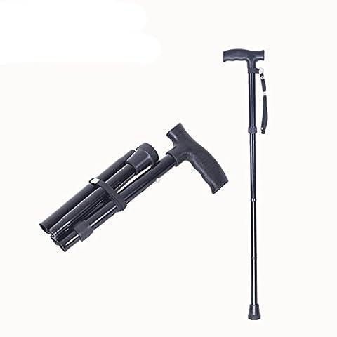 XIONGNA Alliage d'aluminium Bâche rabattable à quatre sections Télescopique Antiskid stick antique Pied simple Béquille