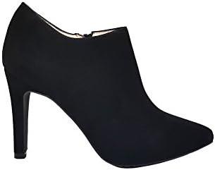 Gennia MALISO - Zapatos Abotinados de Mujer con Tacon de Aguja 9 cm y Punta Fina Cerrada