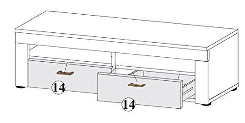 trendteam RV31868 TV Möbel Lowboard weiss Canyon Pinie Shabby Chic Retro Nachbildung, BxHxT 135x45x50 cm - 4