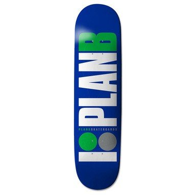 Herren Skateboard Deck (Plan B Team OG Blue/Green Skateboard Deck - 7.625 inch)