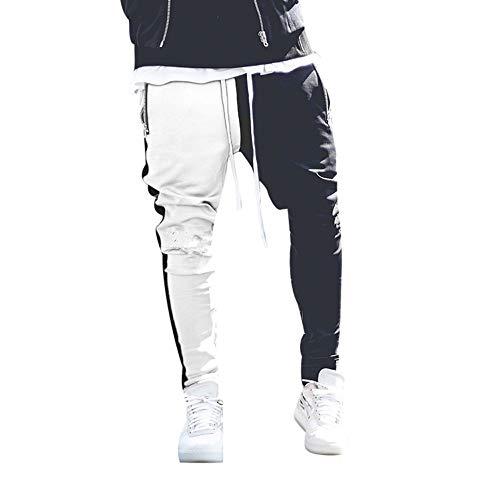 e1759a3113044 Pantalones de Costura para Hombre Pantalones Deportivos Hip Hop Pantalón  para.