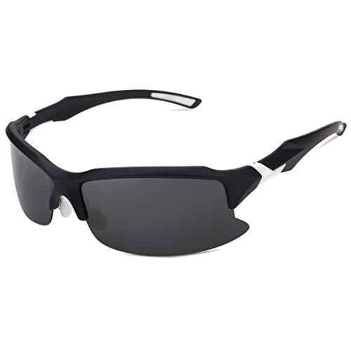 EUCoo Radfahren Brille Polarisierte Sonnenbrillen Outdoor Sports Angeln Brillen Reitbrillen (Schwarz)