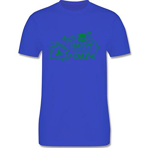 Festival - Happy St. Patricks Day Badge - Herren Premium T-Shirt Royalblau