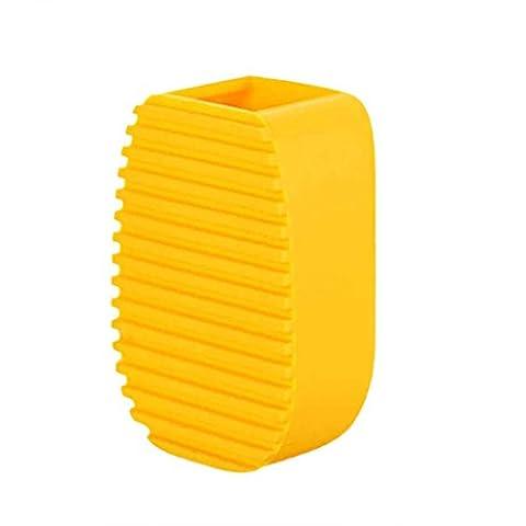 sunnymi Kreativ Flexibel Handgehalten Dick Silikon Wäsche Kleider Reinigungsbürste/Mini Scrub/Waschen Siliciumdioxid/Gel Waschbrett/8x3.5x3cm (Papier Bag System)
