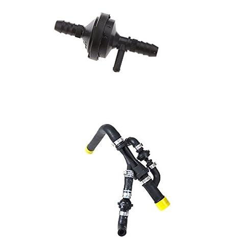 Sharplace Repalcement Vacuum Check Valve Breather Hose Kit for AUDI A4 A6 / VW Passat B5
