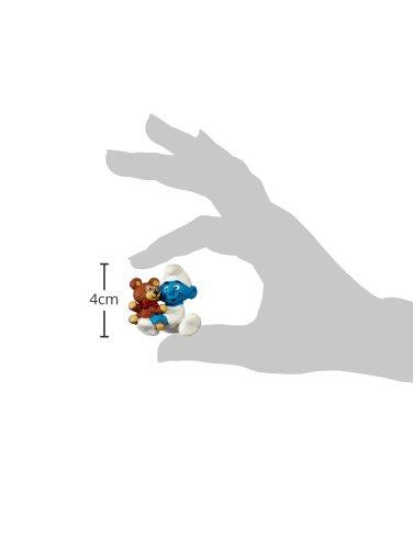 Schleich - Bebé pitufo con Osito de Peluche, Figura (20205) 3