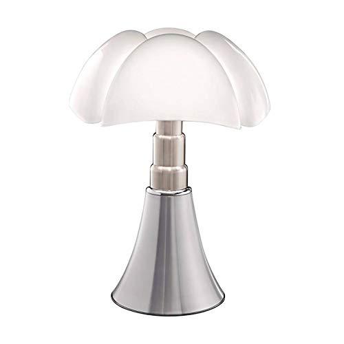 Pipistrello-Lampada Alluminio Dimmer LED Piede telescopico H66-86cm-Lampada da tavolo Martinelli Luce designé per Gae Aulenti