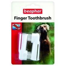 BEAPHAR UK Beaphar Fingerzahnbürste 2pk Packung 1