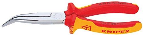 Knipex 26 21 200 Flachrundzange mit Schneide – Storchschnabelzange