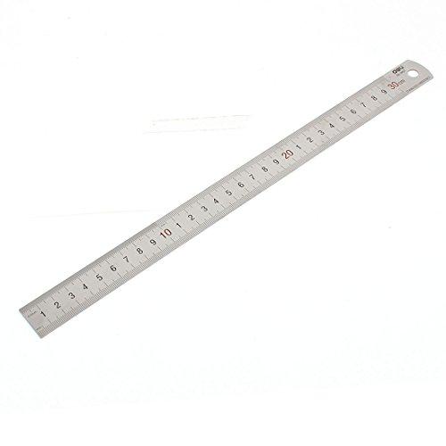 Carpintería acero inoxidable 30 cm 20,32 cm doble escala regla de albañil medir