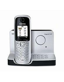 Siemens Gigaset S685 schnurloses DECT-Telefon mit Anrufbeantworter, beleuchtetem Farbdisplay und Bluetooth titanium