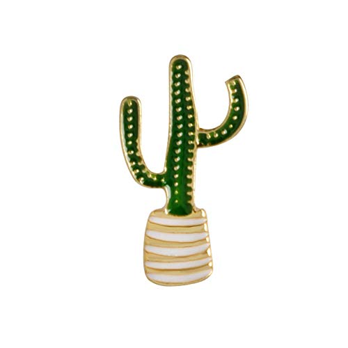 HYLIWI Brosche Cartoon Plant Enamel Pin Coconut Tree Cactus Monstera Brooch Button Pin Denim Clothes Badge Fashion Hot Summer Jewelry -