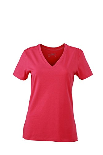 JN928 Ladies' Stretch V-T T-Shirts aus weichem Elastic-Single-Jersey Pink