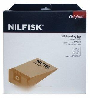 NILFISK ADVANCE-Säckchen Beutel Reinigungsbeutel, 5 Stück, 8l, für NILFISK family ADVANCE