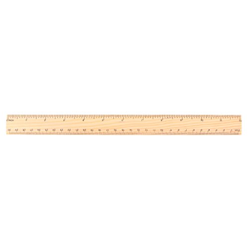 Exing Regla de Madera Kawaii, Herramientas de Medición de Escritorio, Balance Doble Cara, Madera, Couleur du Bois, 30 cm