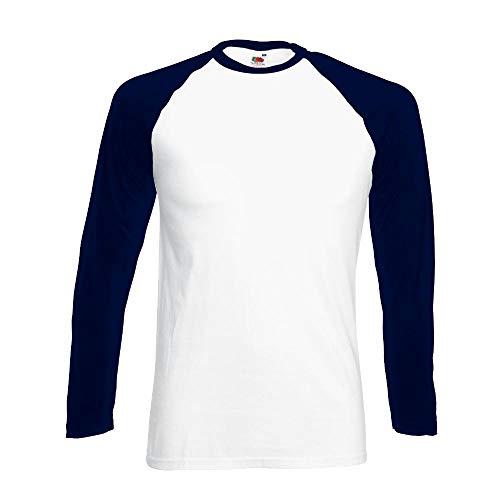 Fruit of the Loom - Kontrast Langarm-Shirt