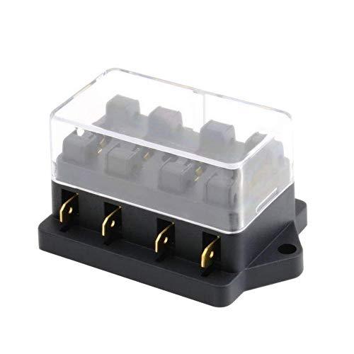 Mintice™ véhicule automobile automatique 4 voies porte-bloc de boîte à fusibles lame circuit ATO norme 12V 24V